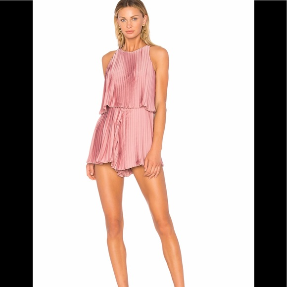 Lovers + Friends Pants - Lovers + Friends Nicki Pleated Orchid Romper